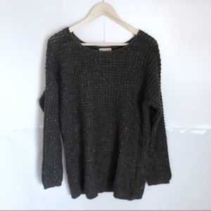 Romeo + Juliet Couture Sparkle Gray Crew Sweater